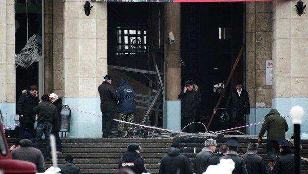 Взорванный вокзал в Волгограде