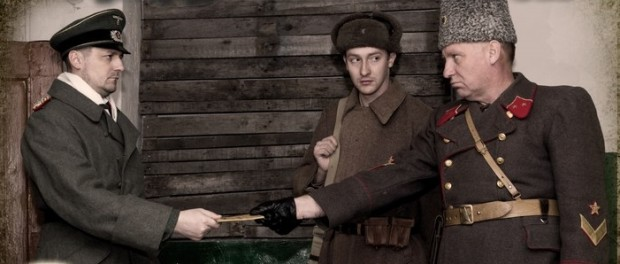Реконструкция пленения фельдмаршала Паулюса в Волгограде